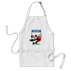 Apron with Poland Football Panda design