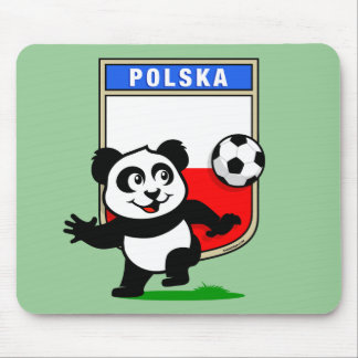 Poland Football Panda Mouse Pad