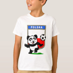 Kids' Hanes TAGLESS® T-Shirt with Poland Football Panda design