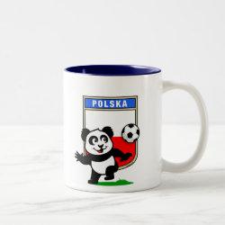 Two-Tone Mug with Poland Football Panda design