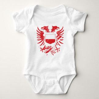 Poland Grunged Baby Bodysuit