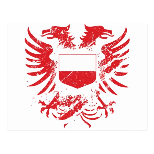 Poland Grunged Postcard