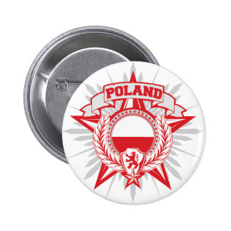 Poland Heraldy Button