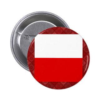 Poland High quality Flag Pinback Button
