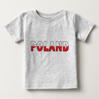 Poland in Polish Flag Colors Infant Baby T-Shirt