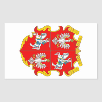 Poland-Lithuania Commonwealth (Rise of Roses) Rectangular Sticker