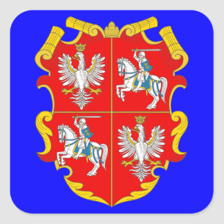 Poland-Lithuania Commonwealth (Rise of Roses) Square Sticker
