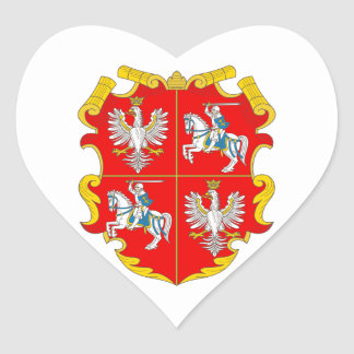 Poland-Lithuania Commonwealth (Rise of Roses) Heart Sticker