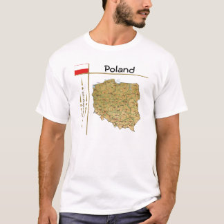 Poland Map + Flag + Title T-Shirt