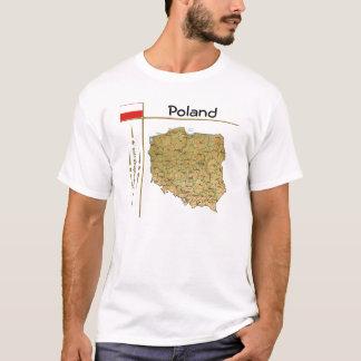 Poland Map + Flag + Title T-Shirt