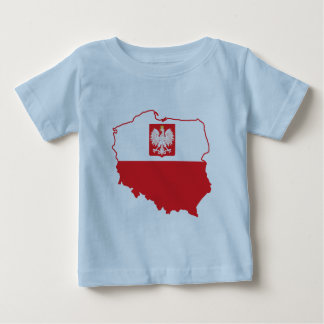Poland Map In Polish Colors Baby T-Shirt