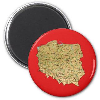Poland Map Magnet