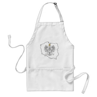 Poland Map With Eagle Adult Apron