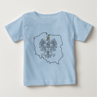 Poland Map With Eagle Baby T-Shirt
