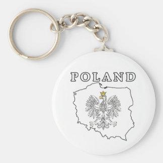 Poland Map With Eagle Keychain
