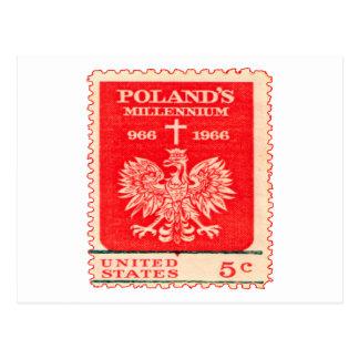 Poland Millennium Stamp Postcard