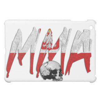 Poland MMA Skull White iPad Case