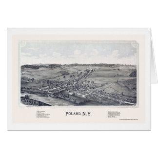 Poland, NY Panoramic Map - 1890 Card