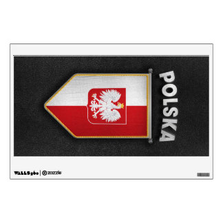 Poland Pennant with high quality leather look Wall Decal