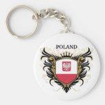 Poland [personalize] basic round button keychain