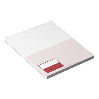 Poland Plain Flag Note Pad