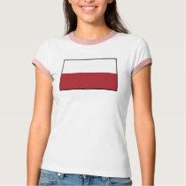 Poland Plain Flag T-Shirt
