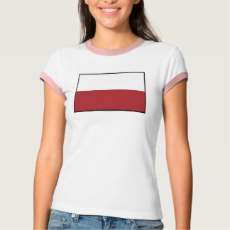 Poland Plain Flag T-Shirt