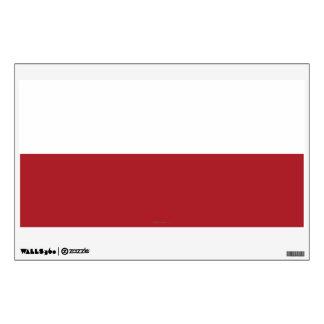 Poland Plain Flag Wall Sticker