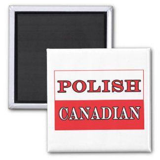 Poland Polish Canadian Flag 2 Inch Square Magnet
