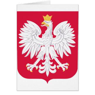 Poland Polish coat of arms Card