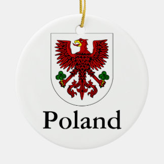 Poland | Polish Coat Of Arms Ceramic Ornament