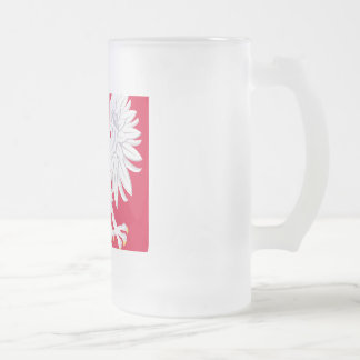 Poland Polish coat of arms Frosted Glass Beer Mug