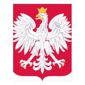 Poland Polish coat of arms Postcard