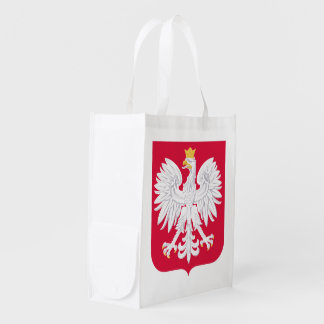 Poland Polish coat of arms Reusable Grocery Bag