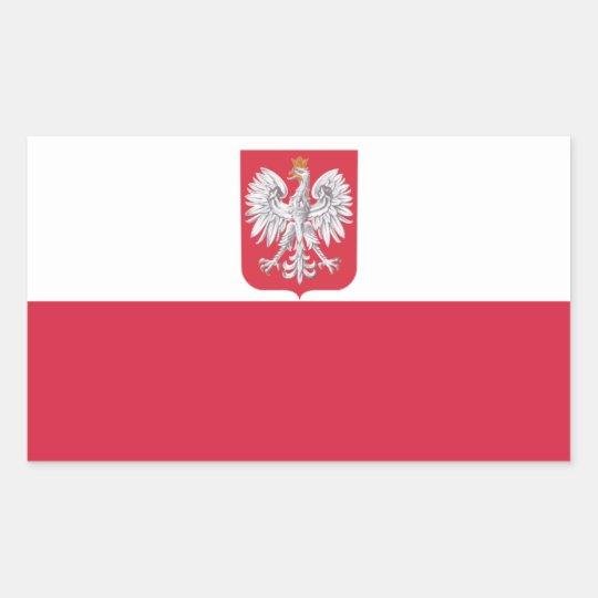 Poland polish eagle crest rectangular sticker