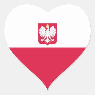 Poland/Polish/Pole Heart Flag Heart Sticker