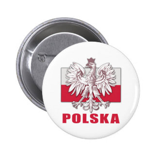 Poland Polska Coat of Arms Button
