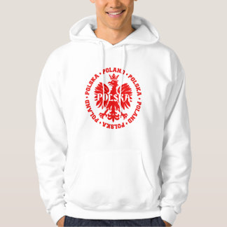 Poland Polska Crowned Eagle Symbol Hoodie