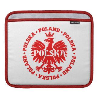 Poland Polska Crowned Eagle Symbol iPad Sleeve