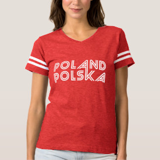 Poland Polska English Polish Text T-shirt
