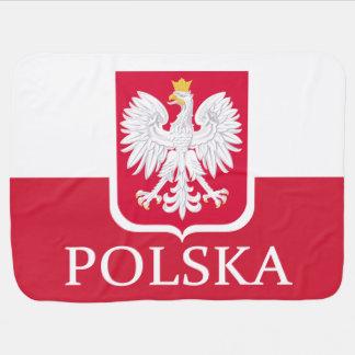 Poland Polska Flag Coat of Arms Baby Blanket