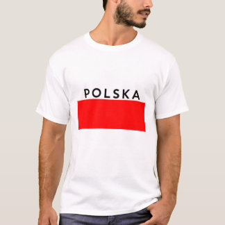 poland polska flag country polish text name T-Shirt