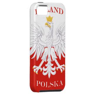 Poland Polska Flag iPhone 5 Case-Mate Tough™