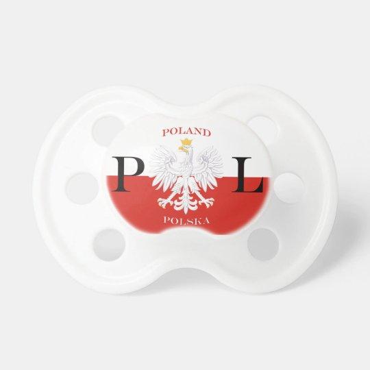 Poland Polska Flag Pacifier