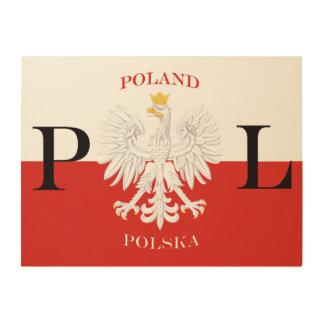 Poland Polska Flag Wood Wall Art