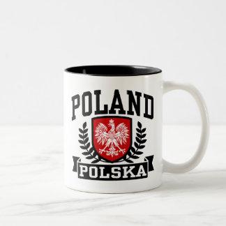 Poland Polska Two-Tone Coffee Mug