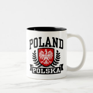 Poland Polska Two-Tone Coffee Mug