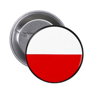 Poland quality Flag Circle Pinback Buttons