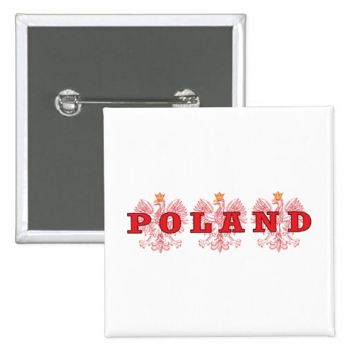 Poland Red Eagles Buttons