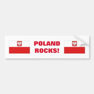 POLAND ROCKS! CAR BUMPER STICKER